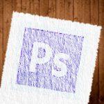 (K)Photoshopで紙のテクスチャに周りが破れた感じを出す場合